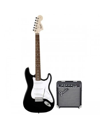 Set chitara electrica Squier Stratocaster/FM10G BK