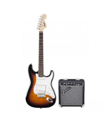 Set chitara electrica Squier Stratocaster/FM10G BS
