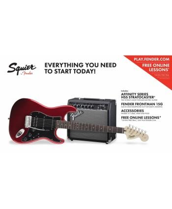Set chitara electrica Squier Affinity Strat HSS/FM15G CAR