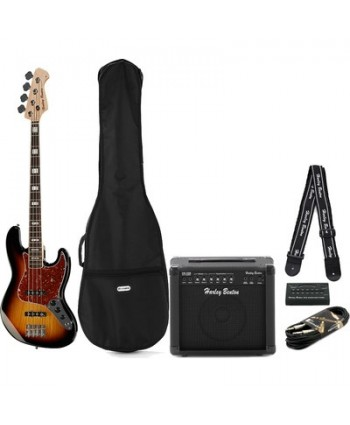 Set chitara bas Harley Benton JB-75 SB Vintage Series Set 1