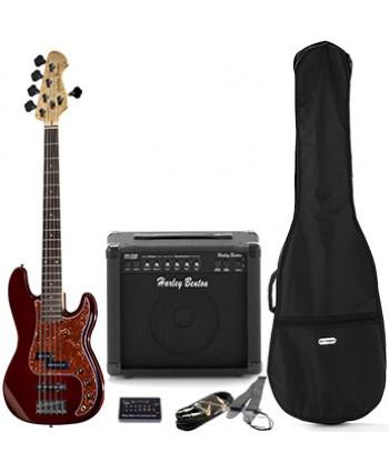 Set chitara bas Harley Benton PJ-5 HTR Deluxe Series Set 1
