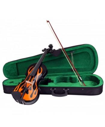 Set vioara Classic Cantabile RV-59 Flames violin set 4/4