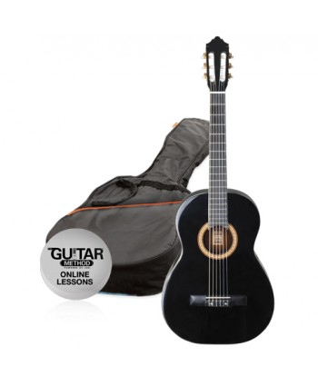 Ashton CG34BK - 3/4 Classical Guitar Pack Black