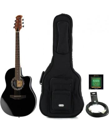Chitara electro-acustica Harley Benton HBO600 BK set