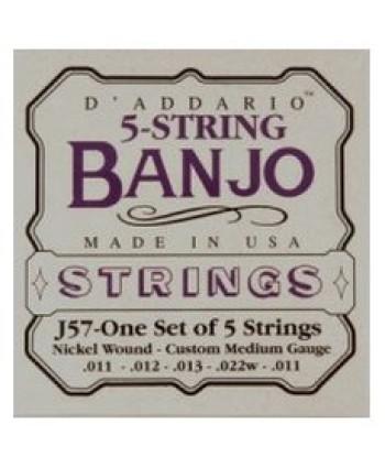 D`Addario J57 5 String Banjo