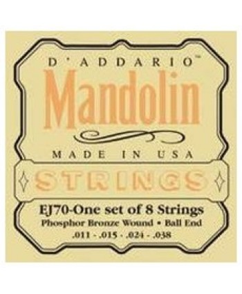 DAddario EJ70 Mandolin String Set Ball End