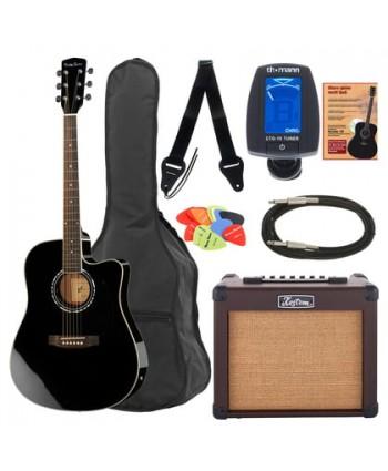 Set chitara electro-acustica Harley Benton Acoustic Power Pack 1